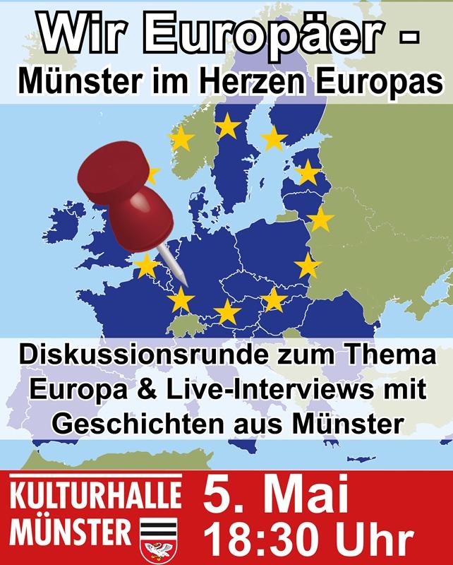 Plakat für eine Veranstaltung zur Europawoche in Münster