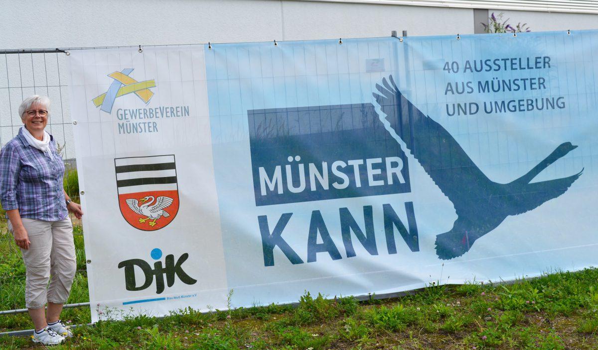"""Annelore Oestreicher, Vorsitzende des Gewerbevereins Münster, freut sich auf die Gewerbe- und Vereinsschau """"Münster KANN""""."""