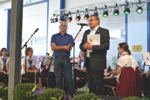 Bürgermeister Gerald Frank und Landrat Klaus-Peter Schellhaas