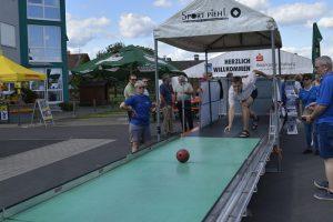Die Outdoor-Kegelbahn der DJK macht Lust aufs Sportkegeln.