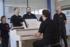 Die Musical Factory gibt eine Kostprobe auf das Musical-Dinner in der Kulturhalle im Dezember.