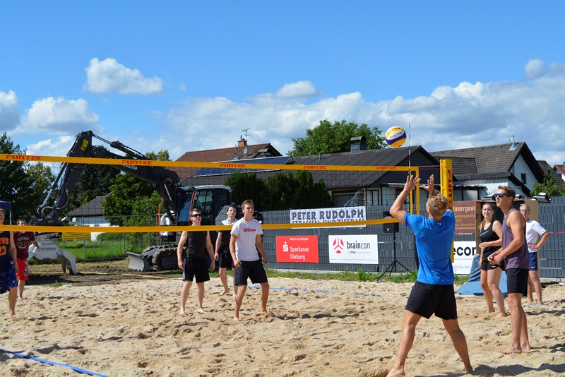 Beachvolleyballturnier der DJK am Beune-Beach.