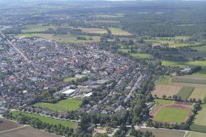 Münster aus dem Hubschrauber.