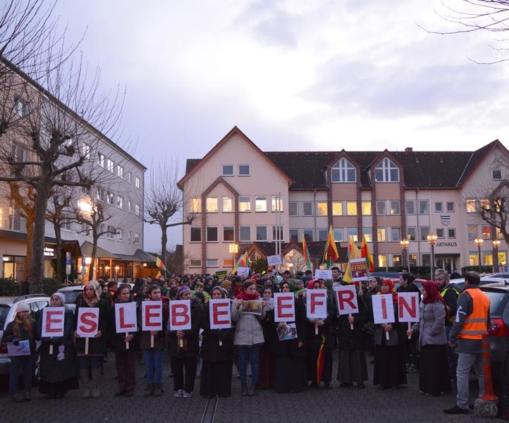 """Demo für """"Frieden in Kurdistan"""" am 1. Februar in Münster. Foto: GM/MMR"""