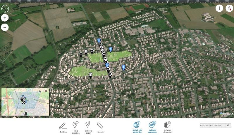 Mit einer neuen Internetanwendung kann die Münsterer Altstadt online erkundet werden, Nutzer können auch ihre Ideen direkt einbringen. Foto: TU Darmstadt