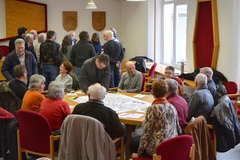 Bereits der erste Bürgerworkshop im Rahmen des AktVis-Projekts im Februar fand großen Anklang. Bei zwei weiteren Workshops sollen die Ideen für den alten Ortskern jetzt weiterentwickelt werden. Foto: GM