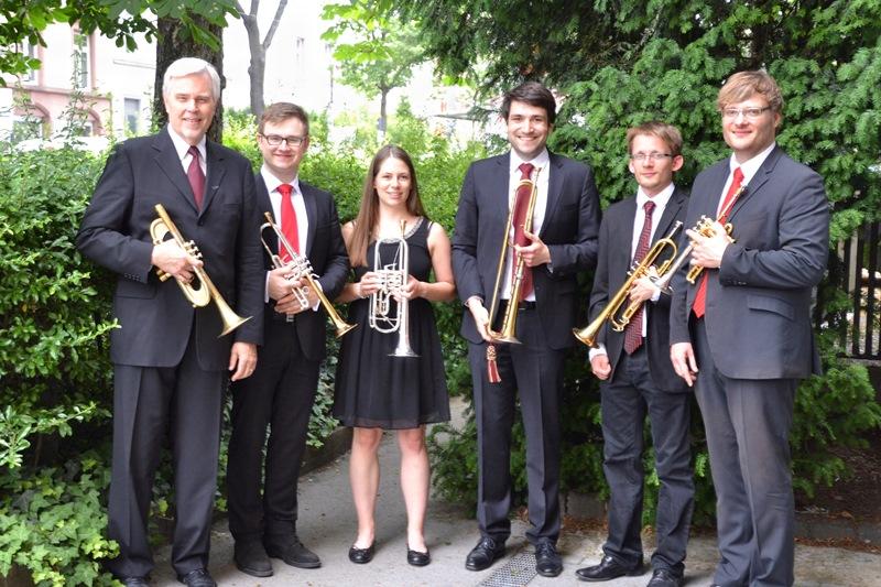 Das Trompeten-Ensemble von Dr. Hoch's Konservatorium Frankfurt