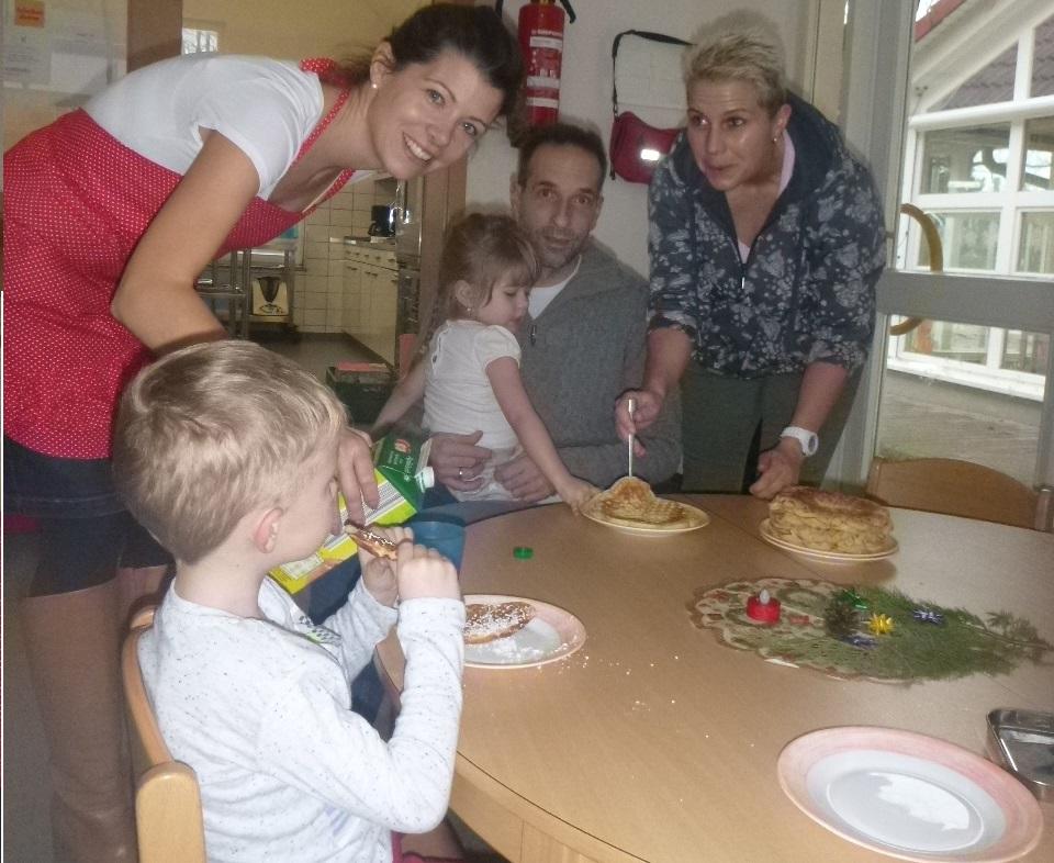Gemütliches Vorweihnachtsfrühstück im Haus der Kinder. Foto: Kita