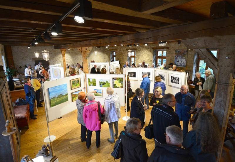 Kunstausstellung in der alten Mühle. Foto: GM/Lena Brunn