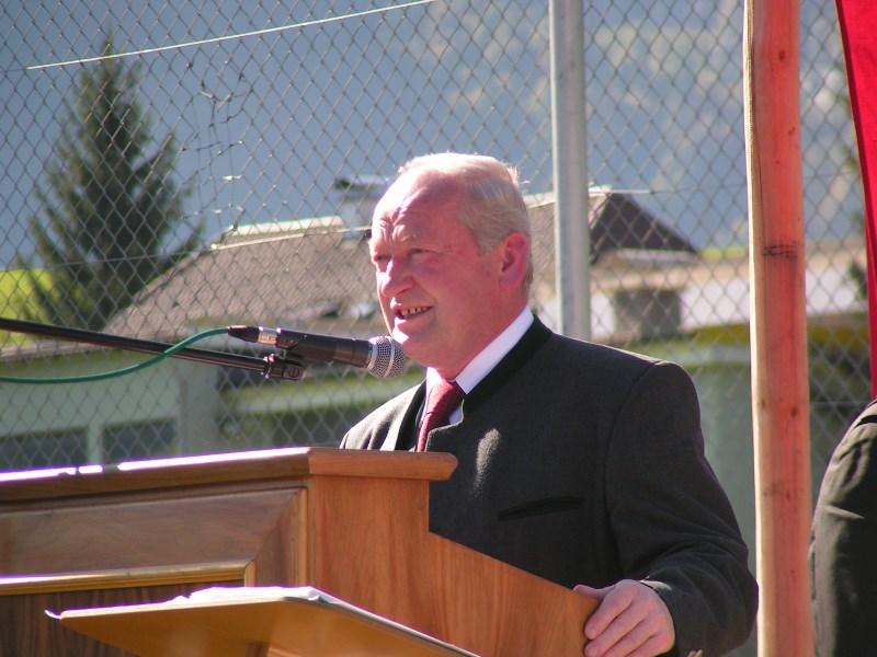 Johann Quehenberger bei einem Besuch einer Münsterer Delegation in Abtenau im Jahr 2014. Archivfoto: Gemeinde Münster