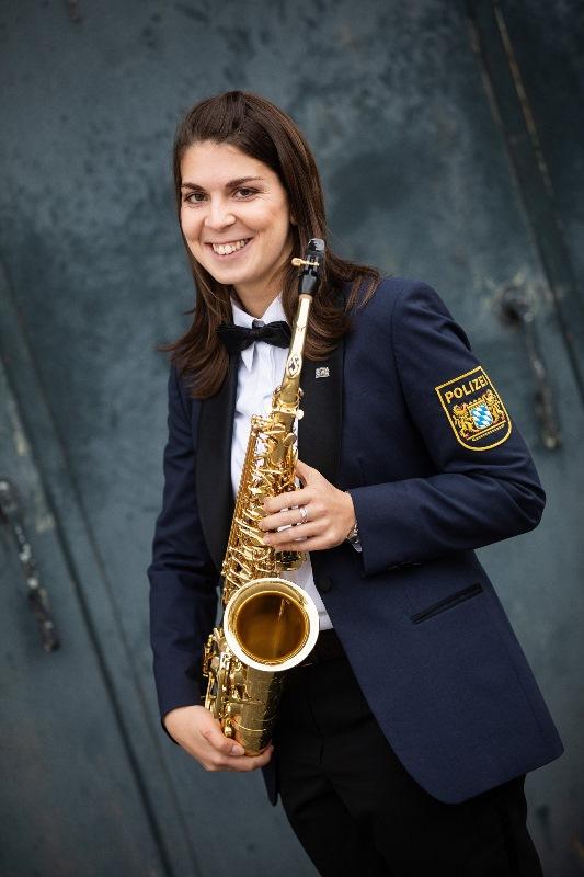 enorsaxophonistin Kristina Serazin freut sich auf den Auftritt in Münster. Foto: Tobias Epp
