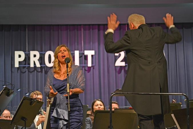 Das Polizeiorchester Bayern begeisterte die Zuschauer. Foto: GM/Meike Mittmeyer-Riehl