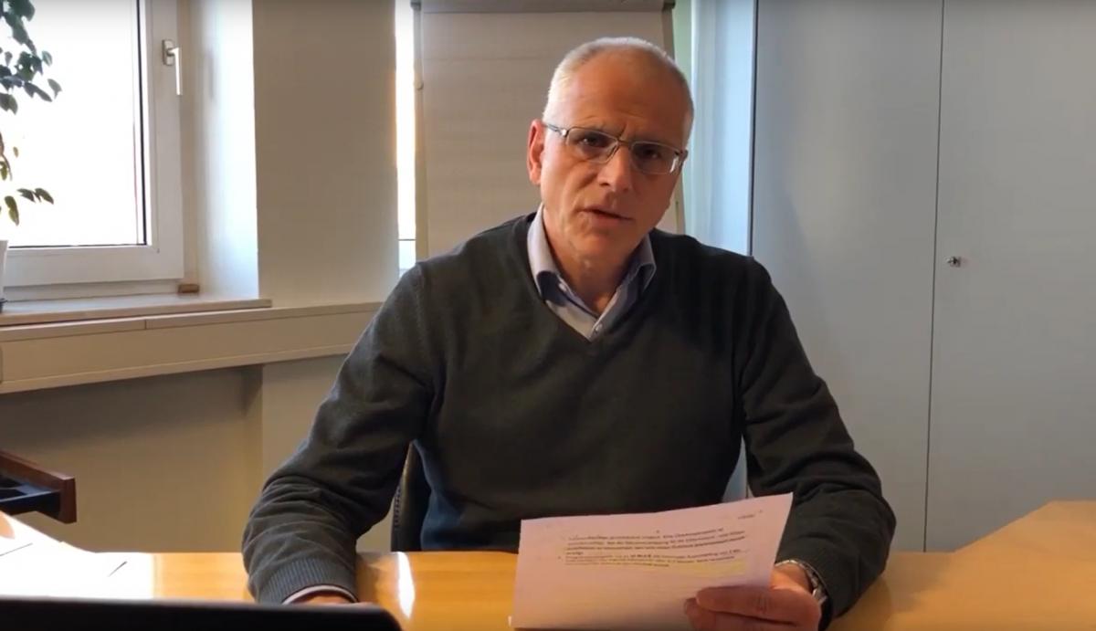 Videobotschaft von Bürgermeister Gerald Frank