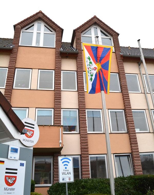 Münster zeigt Flagge für Tibet. Foto: GM/Meike Mittmeyer-Riehl
