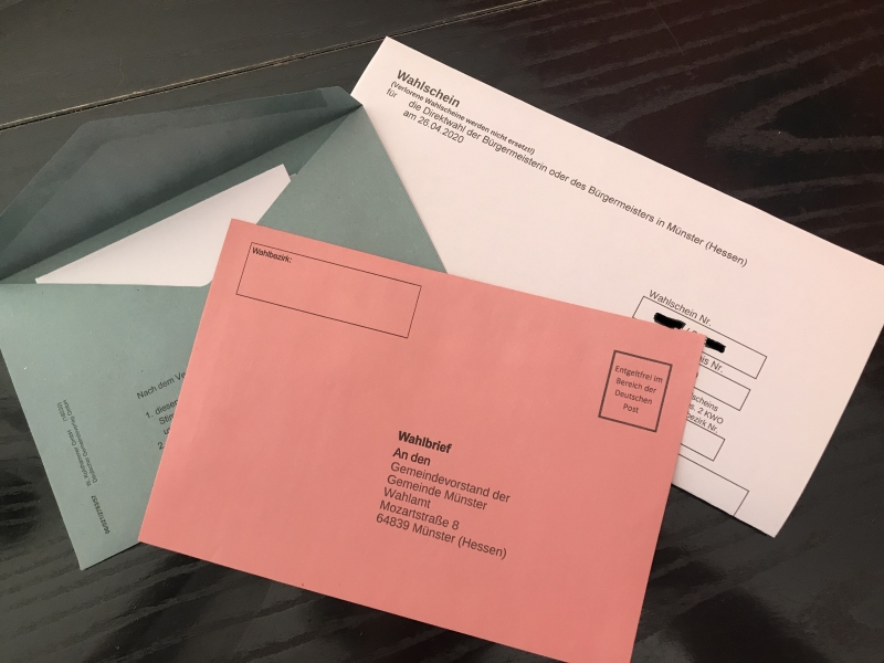 Die Gemeinde Münster bittet darum, die Briefwahlunterlagen rechtzeitig zurückzusenden. Foto: GM/Meike Mittmeyer-Riehl