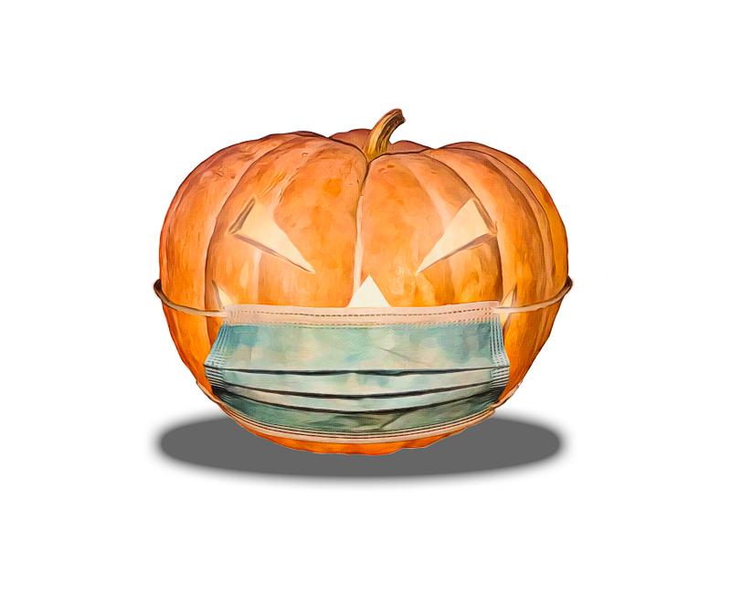 Halloween steht dieses Jahr im Zeichen der Corona-Pandemie. Bild von deRomanArt auf Pixabay