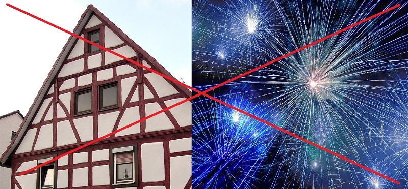 In der nähe von Fachwerk darf kein Feuerwerk gezündet werden. Foto: Archiv/Pixabay.de