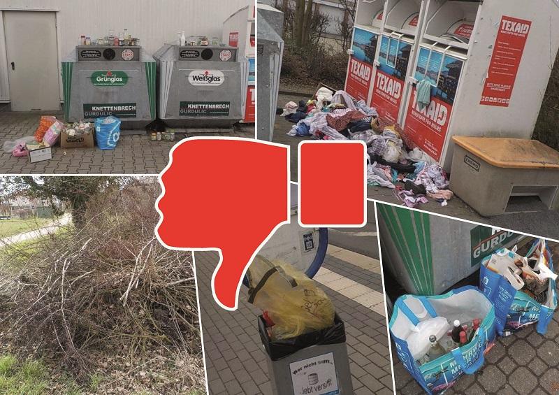 So nicht: Wilder Müll wird ein immer größeres Problem in Münster. Collage: Lena Brunn