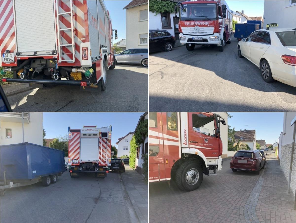 In Münsters Straßen kommt es vielerorts zu Engstellen für Feuerwehrfahrzeuge. Fotos: Melanie Oesterling